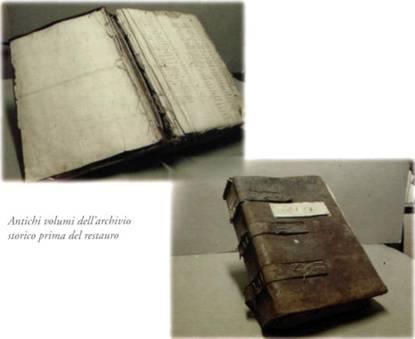 Antichi Volumi dell'archivio storico