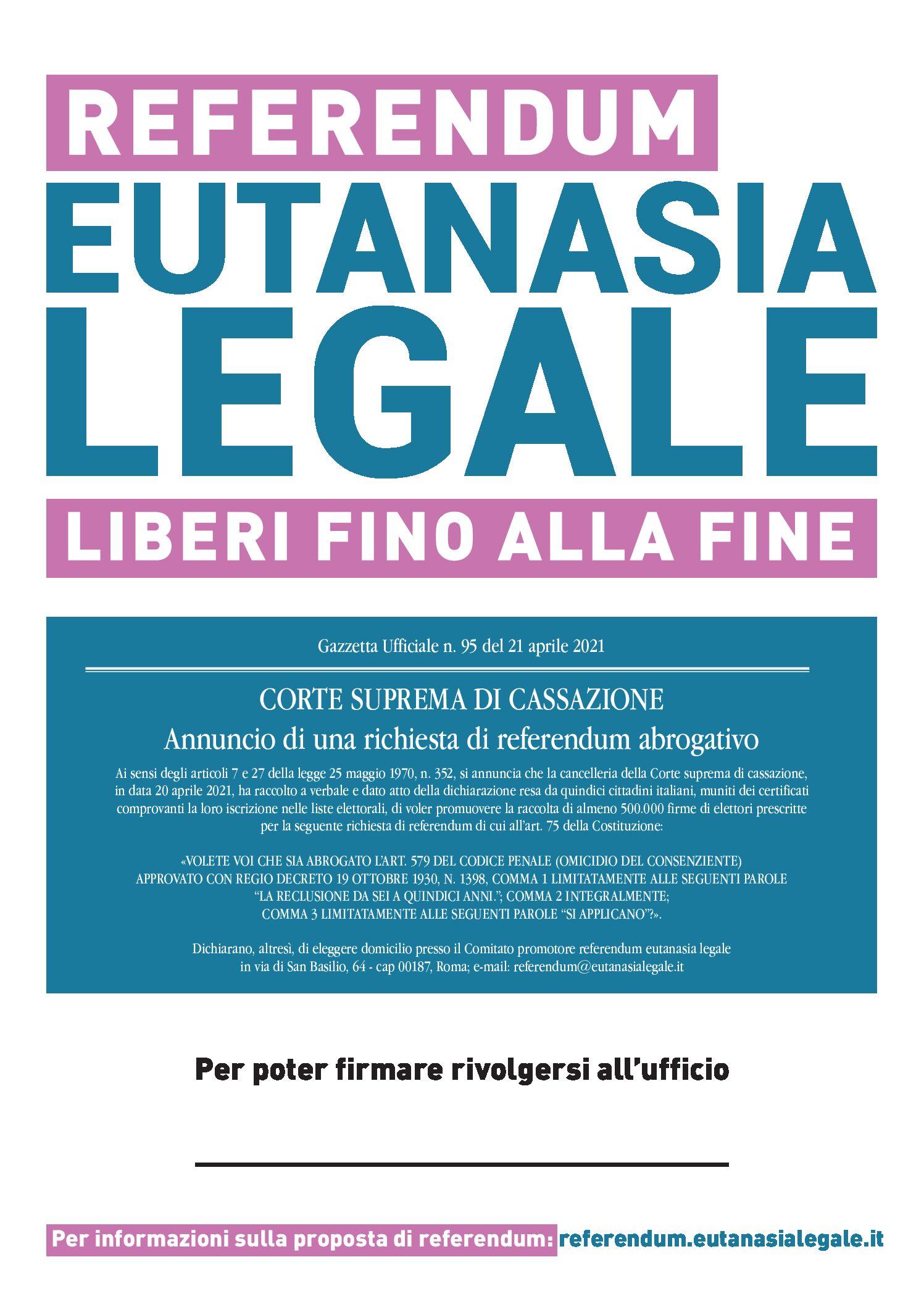 COMITATO PROMOTORE REFERENDUM EUTANASIA LEGALE